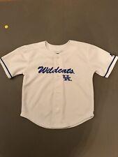 Starter Youth 5/6 Kentucky Wildcats UK Baseball Jersey White With Blue