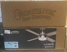 "Casablanca 54"" Levitt Brushed Nickel 4 Blade LED Light Ceiling Fan"