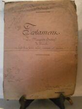 Acte notarié généralité 1855 testament de M Soutain Fricouville Dagonville Meuse