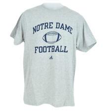 NCAA Adidas Notre Dame Fighting Irish Crew Neck Tshirt Licensed Adult Gray Blue