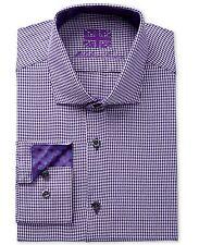 $276 MICHELSONS Men SLIM-FIT WHITE BLUE LONG-SLEEVE BUTTON CHECK DRESS SHIRT XL