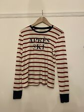 Womens Striped Abercrombie & Fitch Long Sleeve Slogan T Shirt Size M A&F Soft