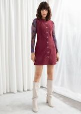 & Other Stories Women's Suede Snap Button Mini Dress Size Us 2