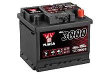 YUASA 12v Type 063 Car Battery 3 Year Warranty EB442/EA472 Alt. YBX3063 CALCIUM