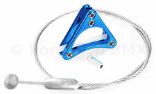 Aluminum alloy bicycle triangle brake cable hanger U-brake & cantilever BLUE