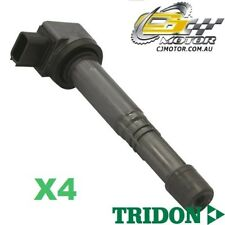 TRIDON IGNITION COIL x4 FOR Honda  Accord CM (40) 06/06-01/08, 4, 2.4L KA4A4