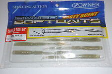 "Owner Shivertail 4.5"" Drop Shot Baits (Smokey Holo)"