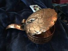 Gregorian Copper Silent Butler Dish With Lid Or Potpori Dish