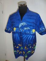 vintage KY`S Hawaii Hemd blau shirt surfer delfin made in hawaii oldschool XL