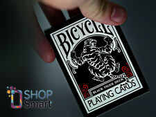 ELLUSIONIST BICYCLE BLACK TIGER RED PIPS PLAYING CARDS DECK MAGIC TRICKS USPCC