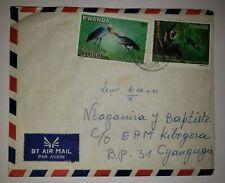 G)1958 RWANDA, PARK OF AKAGERA BIRDS, NYUNGWE FOREST PRIMATES, INTERNAL AIRMAIL