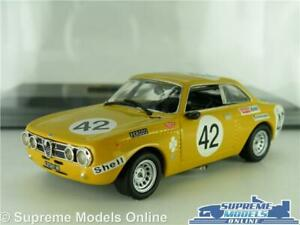 ALFA ROMEO 2000 GT AM MODEL CAR 1970 RACING RALLY SPA 1:43 SIZE IXO + CASE K8