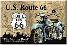 """US Route 66 Novelty 2"""" x 3"""" Metal Refrigerator Toolbox Magnet"""
