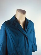 London Fog Maincoat Classic Trench Coat 14 Long  Slate Blue  Vintage (L)
