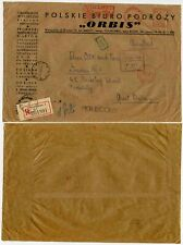 POLAND 1969 REGISTERED METER FRANKING SLOGAN PRINTED ORBIS COMMERCIAL ENVELOPE