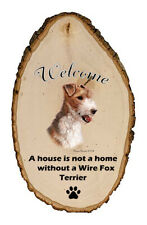 Outdoor Welcome Sign (Tb) - Wire Fox Terrier 51067