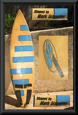 "Surfboard Mark Schneider Shaper signed San Diego Board No. 138 6'2"" Vintage"