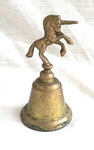 Vintage Solid Brass Unicorn Bell - Taiwan