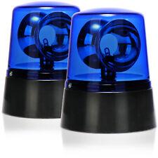 2x LED-Partyleuchte Blaulicht mit 360° rotierendem Reflektor-Rundumlicht