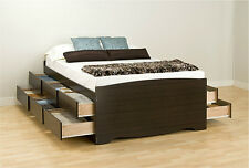 Bed Frames for Queen Size Beds with Storage Tall Captain Storage Drawer Platform