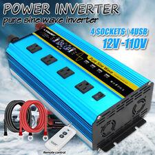3000W 6000W pure sine wave power inverter Dc 12V to Ac 120V Converter 4Usb camp