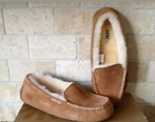 UGG Ansley Chestnut Suede Moccasins Slippers Shoes Size US 10 Womens 3312