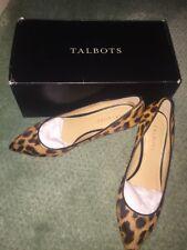 Talbots Leopard Print Whitney Pointed Toe Wedge Heels 8N New