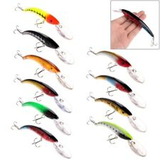 15.5cm 10 Minnow Fishing Lures Floating Rattles Deep Diving Bass CrankBait 16.5g