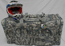 XL Motorcycle atv mx gear bag motocross off road dirt bike digital grey camo