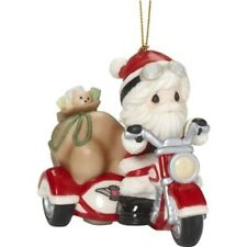 Precious Moments Santa on Motorcycle with Sidecar Ornament, New with Box, 181035