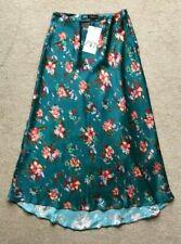 ZARA FLORAL maxi Skirt size XS 6 8 JADE GREEN PINK BNWT