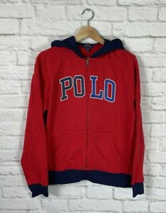 NEW POLO Ralph Lauren Youth Boys Red Full Zip Hoodie Size XL 18-20