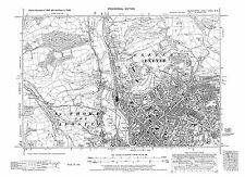Old map of Exeter 1938 repro Dev-80-NW north west Devon