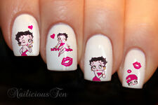 Betty Boop Nail Wraps Art Water Transfer Decal 20pcs So Beautiful ST8083
