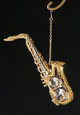 Saxophone - 24K Gold Plated with Austrian Crystal Ornament
