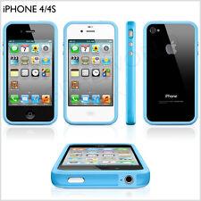 Iphone 4 4s parachoques nuevo elegante de alta calidad con botón de Metal 7 Colores Original