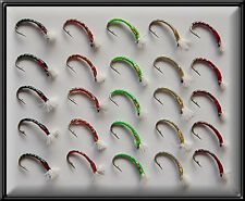 25 EPOXY NYMPHS 3D GLASS HAND TIED TROUT FISHING FLIES FLY for rod reel line  BN