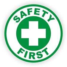 Safety First Hard Hat Sticker / Decal / Helmet Label Union Construction Laborer