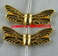 140pcs Gold Plated  Angell Wings Spacers 20x7x3mm 910-2