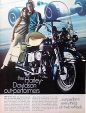 1969 HARLEY-DAVIDSON ELECTRA GLIDE ~ ORIGINAL PRINT AD