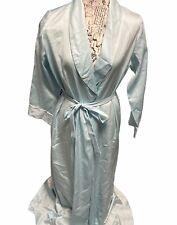 Victoria Secret Womens Vintage Blue Long Kimono Robe Medium