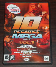 PC CD. 10 PC Games Mega Pack Heroes of Might and Magic 3 Red Baron Jacked & More