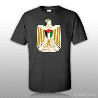Palestine Coat of Arms T-Shirt Tee Shirt Free Sticker State Palestine flag