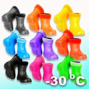 Durable Sole CHILDREN Wellington BOOTS EVA Outer Rain Shoes Kids Wellies -30 dgr