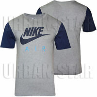 New Mens Nike Gym Sports T-Shirt Retro Nike Logo Top Crew Neck Tee S M L XL