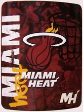 "Blanket Fleece Throw NBA Miami Heat NEW 50""x60"" with protective sleeve"
