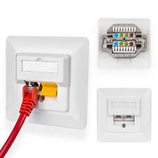1x Dose Netzwerkdose 2-Port Cat 5e LSA Unterputz RJ45 LAN Ethernet DSL Internet