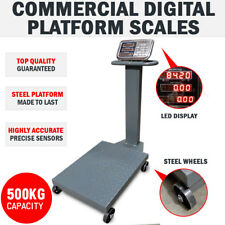 Commercial 500KG Steel Electronic Computing Digital Platform Scales Postals