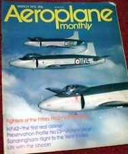 Aeroplane Monthly Magazine 1975 March Fleet Air Arm,V-S Attacker,FE8,Sandringham
