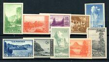 Weeda Usa 756-765 Vf Mng set of imperf singles, 1934 National Parks Cv $15.50